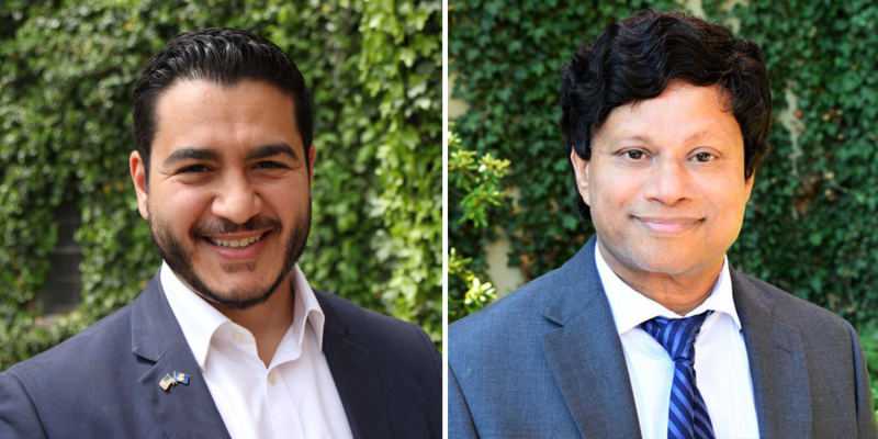 Abdul El-Sayed and Shri Thanedar