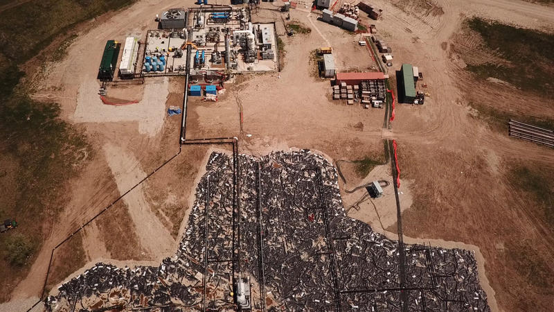 Aerial view of Velsicol Chemical clean up through EPA's Superfund.