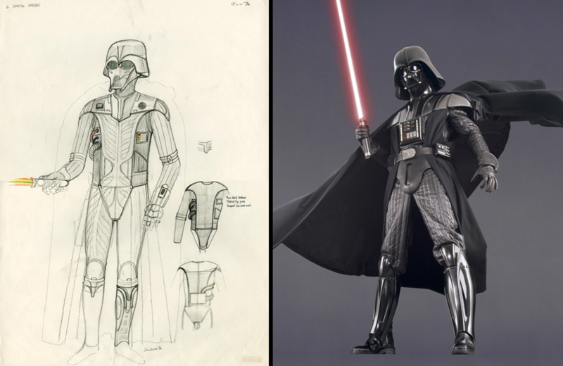darth vader sketch and darth vader costume