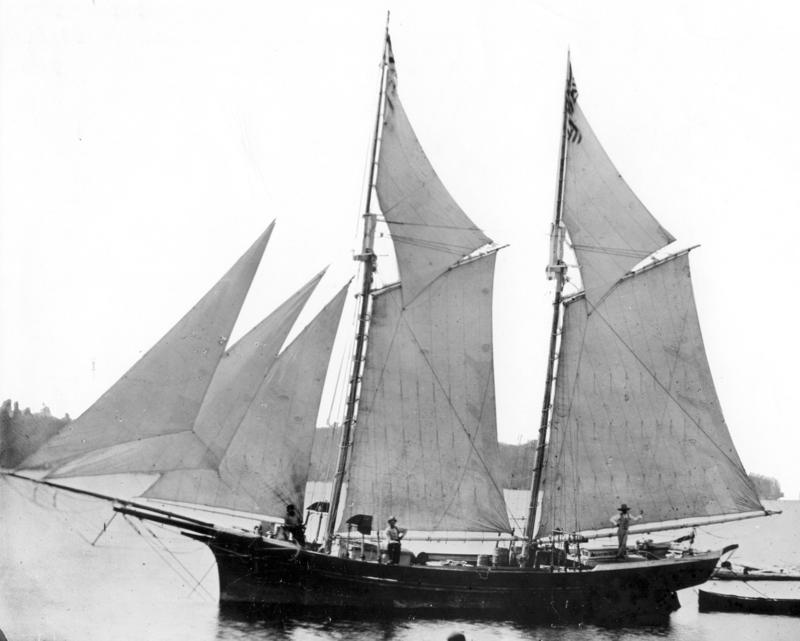 This typical 19th-century schooner is similar in size and rigging to the Lake Serpent, which went down in Lake Erie in 1829. The National Museum of the Great Lakes believes it's the ship in a recently discovered wreck.