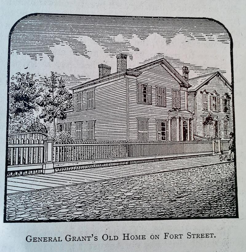 The house as it would have looked when the Grants lived there.