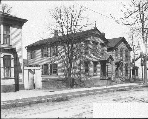 The home at the turn of the 20th century, when it was still part of a neighborhood.