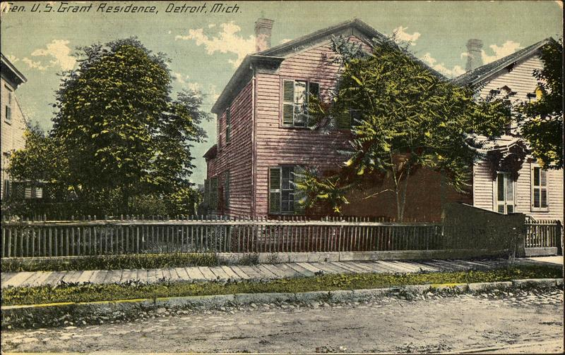 A hand-tinted postcard, evidence of the house's importance to the city 100 years ago.