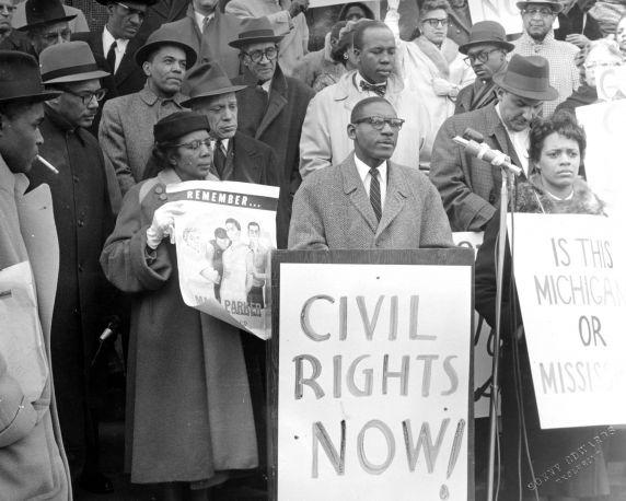 civil rights rally in detroit