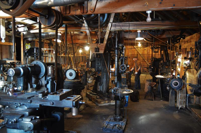 Sanderson Iron is much like a working history museum. Line shaft power is rare.