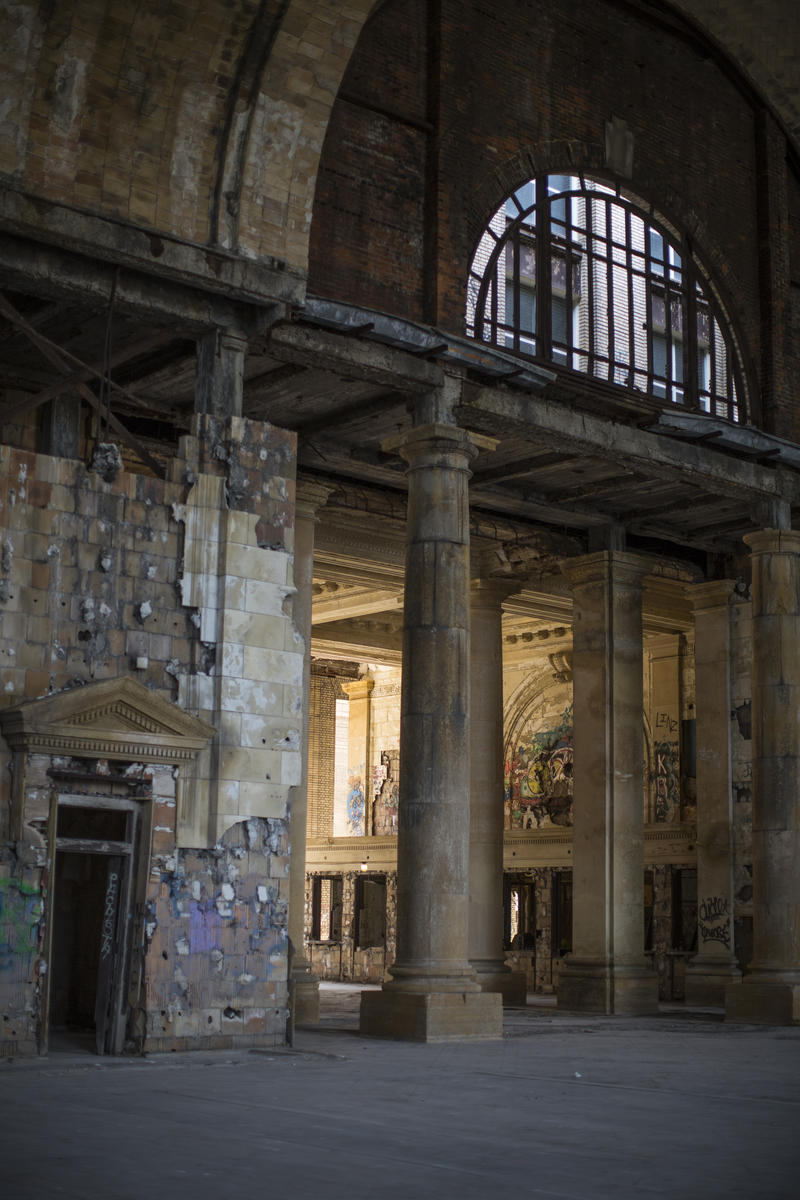 Michigan Central Station circa 2018