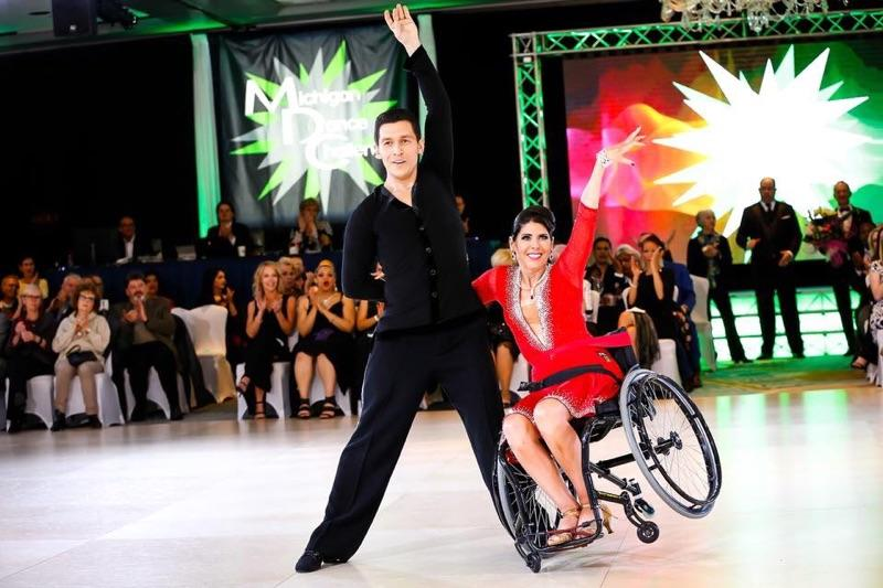 Cheryl Angellili at a para dance competition