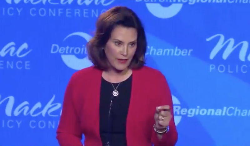 Gretchen Whitmer at a Democratic gubernatorial debate