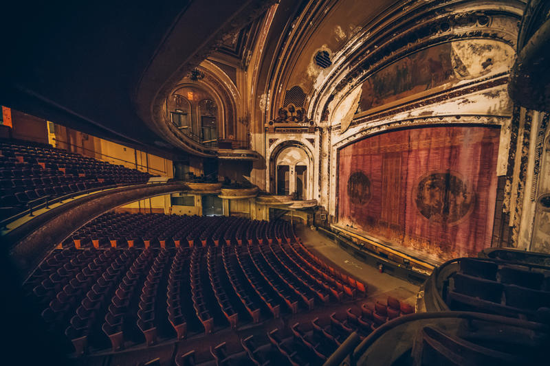 An elevated view of a Vaudeville Theater