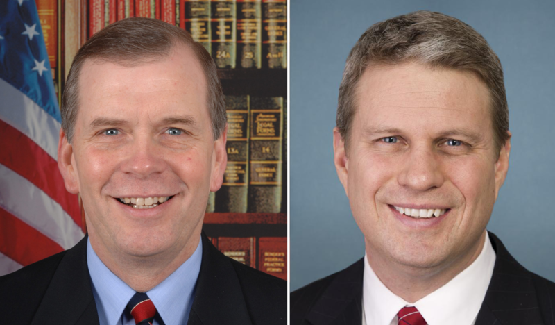 Congressmen Tim Walberg (left) and Bill Huizenga (right)