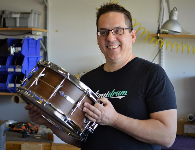 Eric Sooy of Black Swamp Percussion in Zeeland, Michigan.