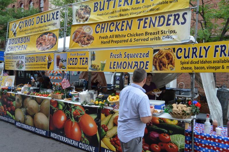 a food vendor at the Art Fair