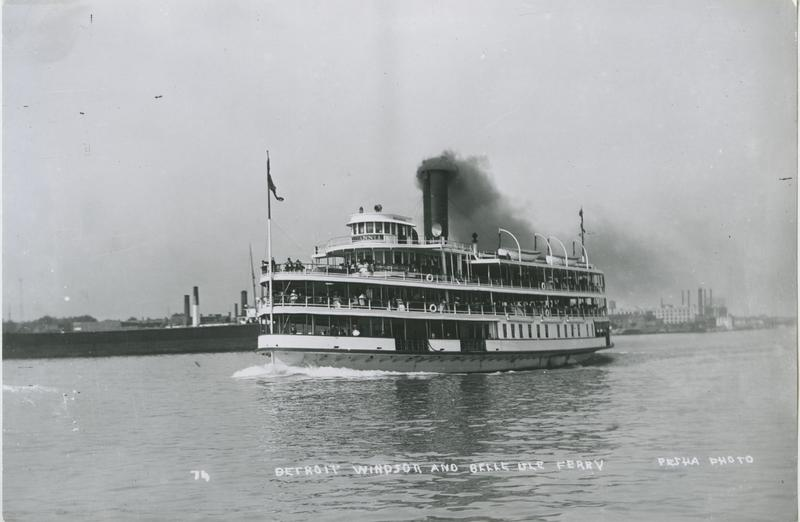Image of the Britannia, c. 1915. A ferry on the Detroit River.