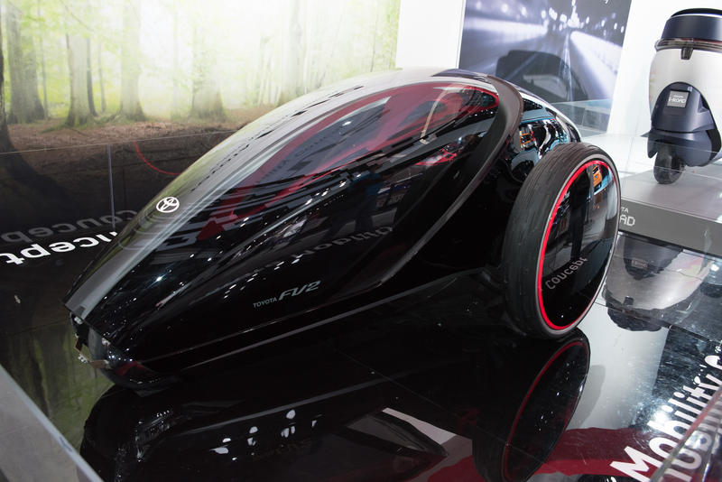 futuristic car at North American International Auto Show