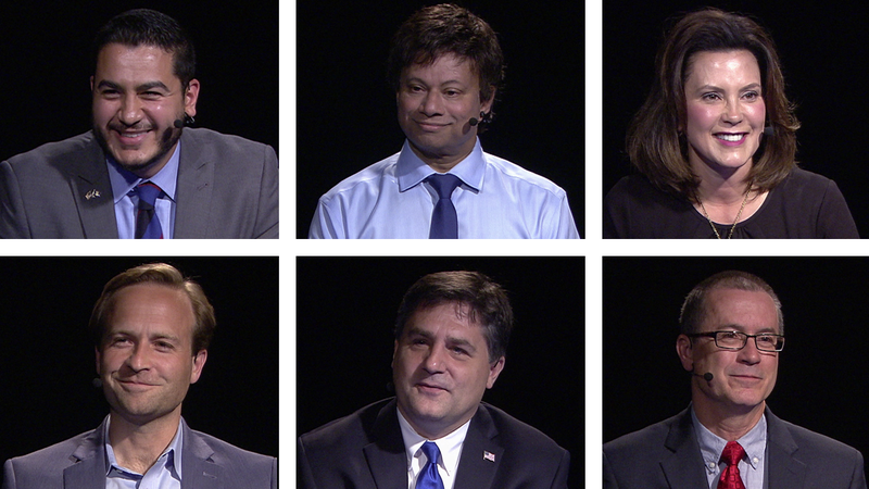 Six of the gubernatorial candidates