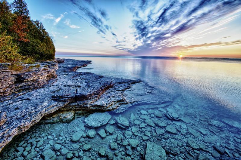 Lake Michigan at sunrise.