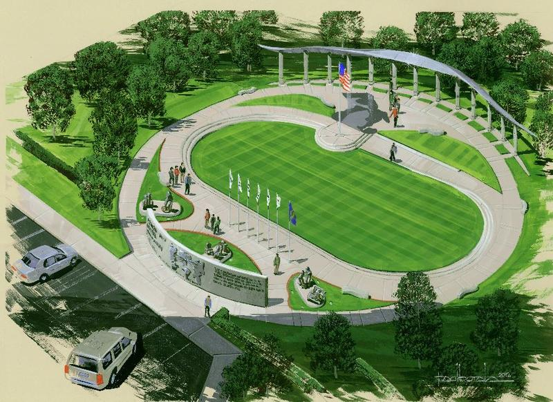Rendering of the memorial