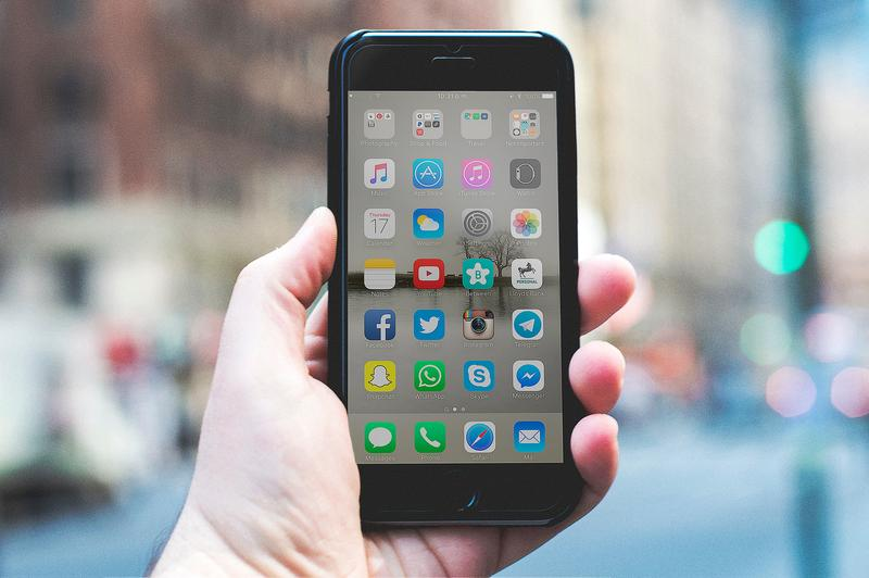 smart phone open to facebook