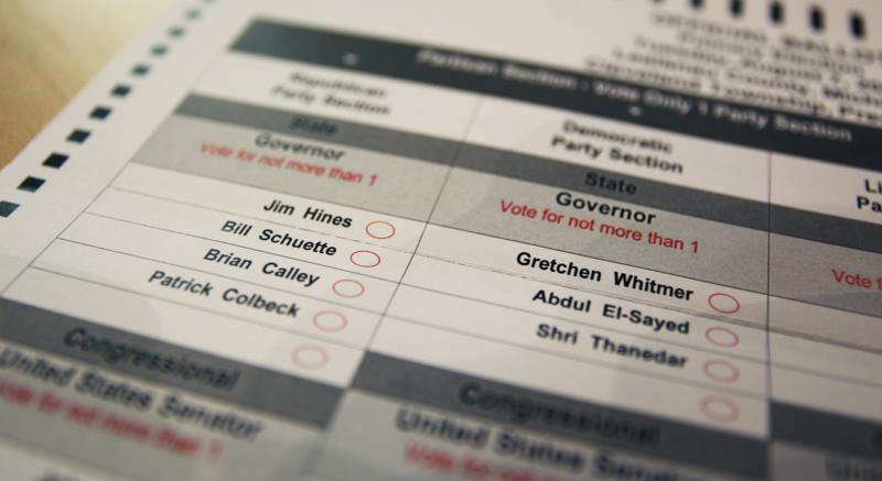 2018 primary ballot