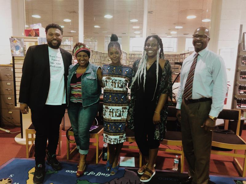 "Jonathan ""JG"" Galloway, Monique Tate, Imani Mixon, Trice Clark, and Pastor Christopher Bodley"