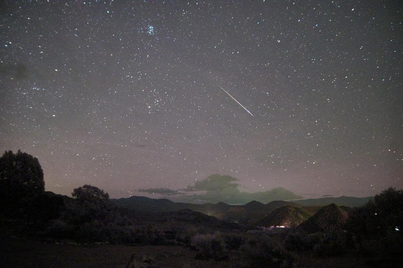 perseid meteor shower in New Mexico, 2013