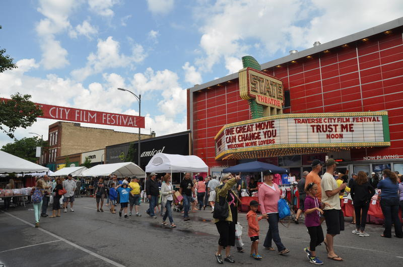 Traverse City Film Festival theater and banner