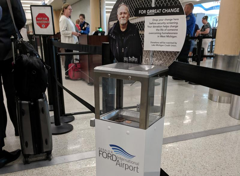 Coin box at Gerald R. Ford International Airport