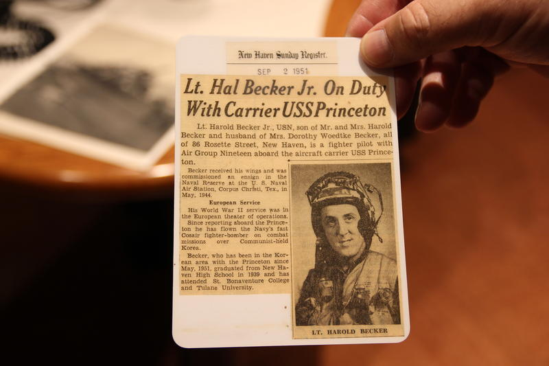 A news clipping featuring Harold Becker.