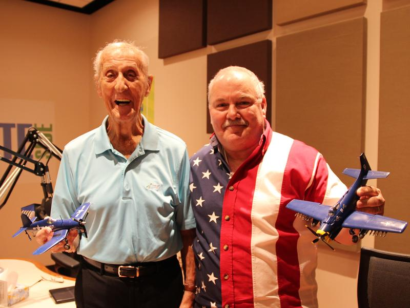 Harold Becker (left) and Sean Tracy (right) in the Stateside studio.