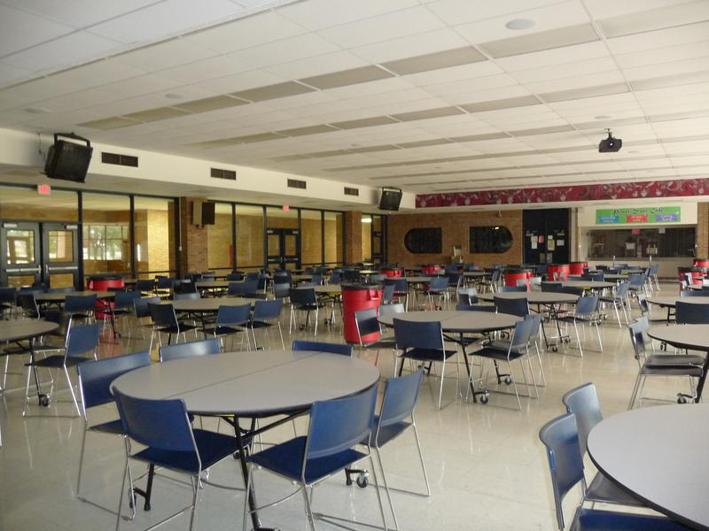 Cafeteria at Lamphere High School.