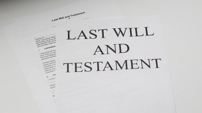 papers that say last will and testament