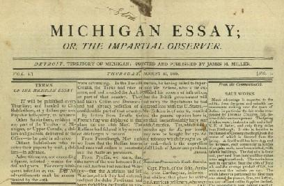 scan of The Michigan Essay newspaper