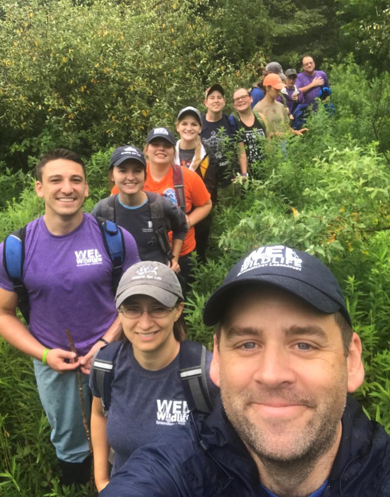 Matt Allender (bottom right) with his fieldwork team.