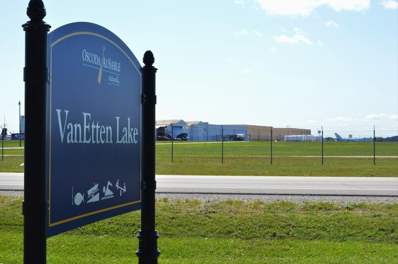 Van Etten Lake is contaminated by PFAS. A firefighting foam used in training exercises at the Wurtsmith Air Force Base across the street is the source.