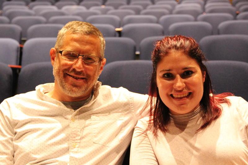 Music teachers Erick Senkmajer and Erika Senecal