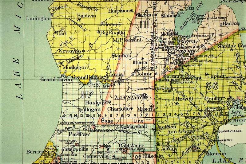 The boundary lines for multiple land treaties cross the state of Michigan.