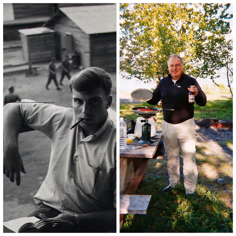 Lawrence Dolph in 1969 (L) and now.