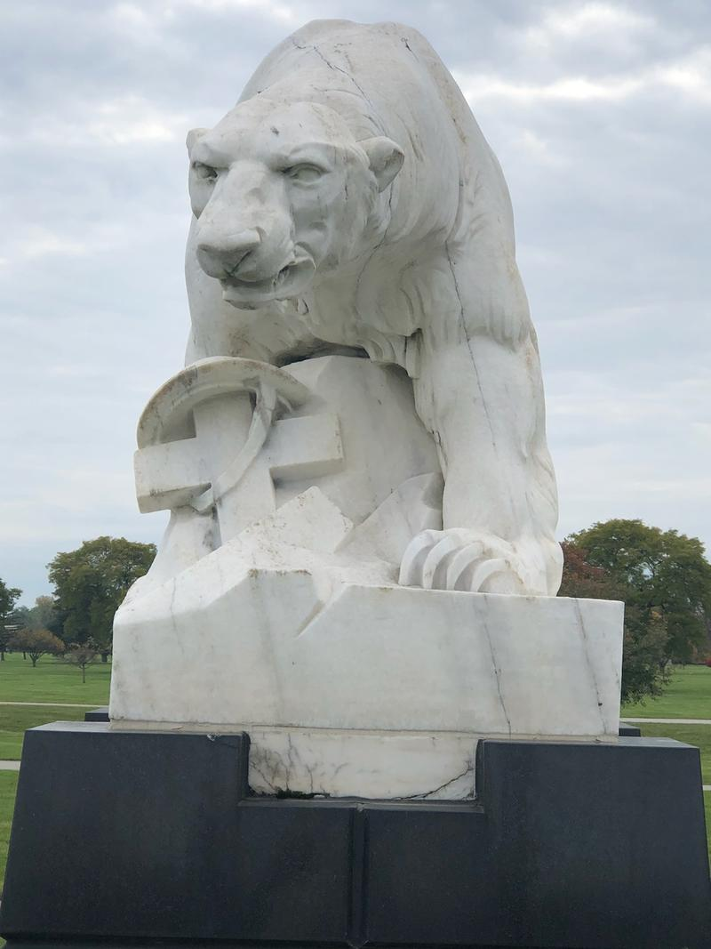 The Polar Bears War Memorial located at the White Chapel Cemetary in Troy, Michigan