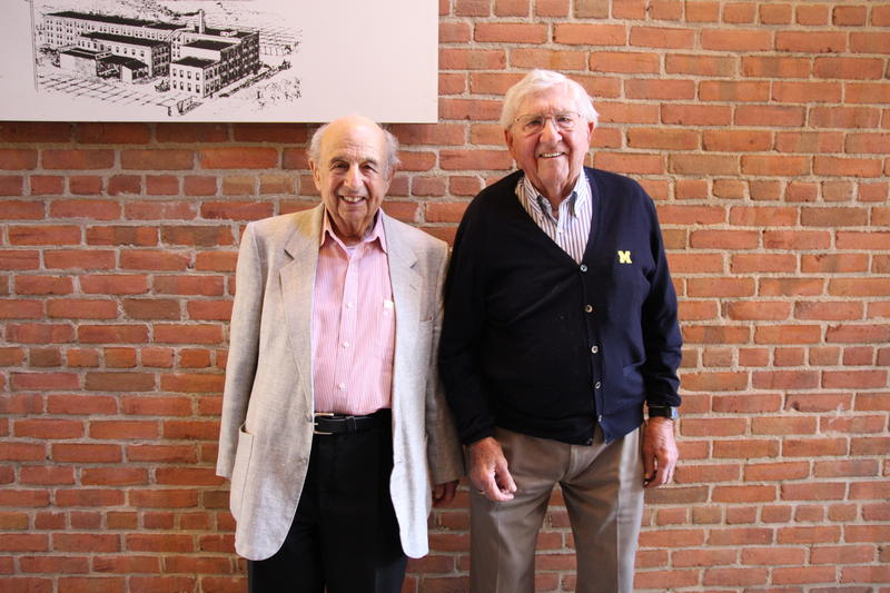 World War II veterans, Art Holst and Guy Stern.