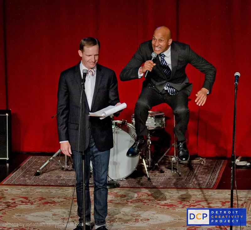 Actors Marc Evan Jackson and Keegan-Michael Key perform as part of the Detroit Community Project.