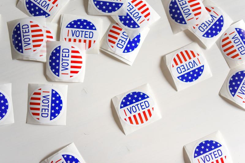 """A collection of """"I Voted"""" stickers"""