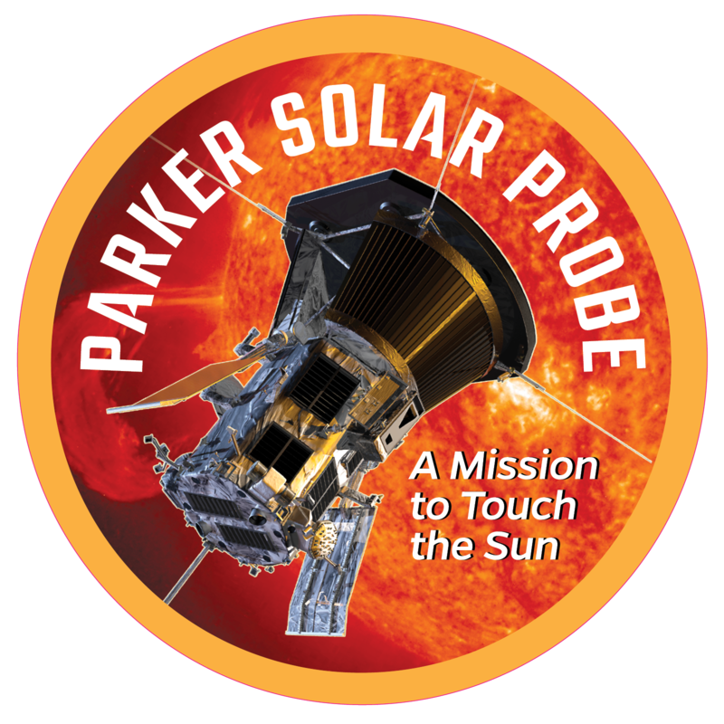 The Parker Solar Probe's logo with the text: