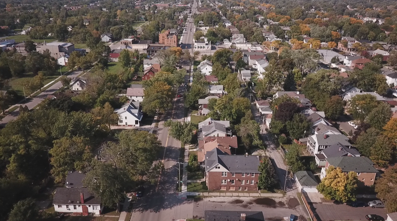 Detroit and Grosse Pointe from above