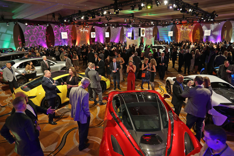 Car enthusiasts at the NAIAS 2019 Gallery Event.
