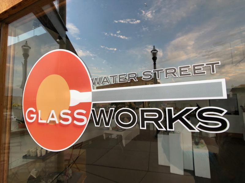 The Water Street Glassworks door
