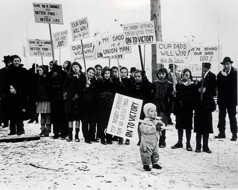 A labor strike in Flint