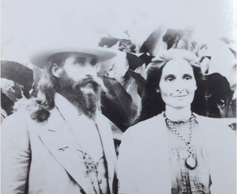 Mary and Benjamin Purnell, founders of the House of David