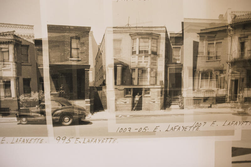 Old photographs from Black Bottom on Lafayette Street.