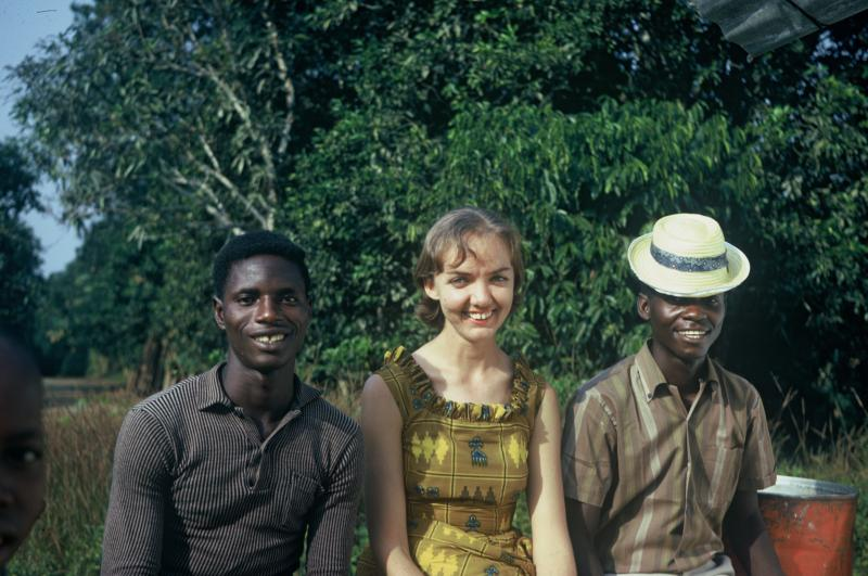 Jackie Ladwein, age 25, on her Peace Corps assignment to Liberia