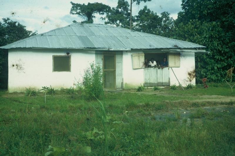 Jackie Ladwein's home in Liberia, where she worked as a Peace Corps volunteer in the early 60's
